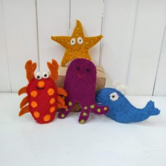 sea side finger puppets