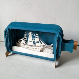 ship in a bottle pop up card
