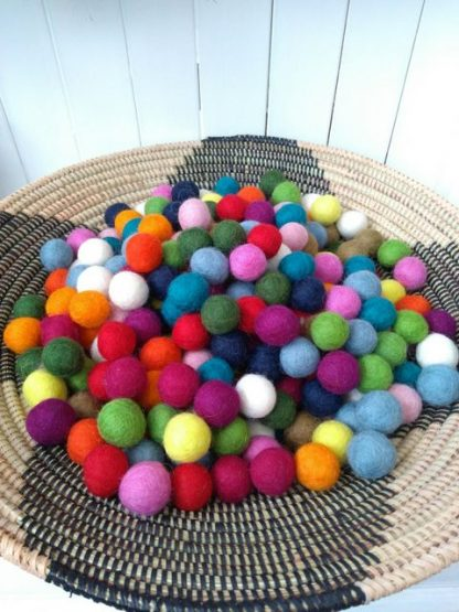 bright felt balls