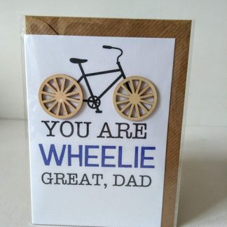 dad bicycle card