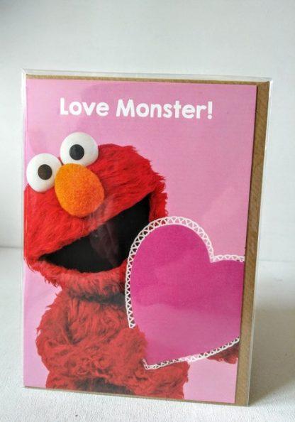 elmo love monster