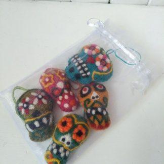 felt candy skulls mexican