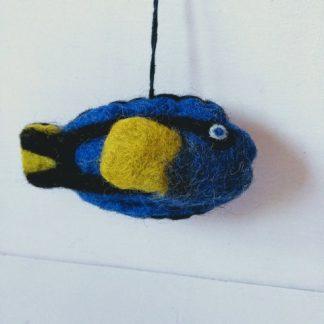 felt fish blue