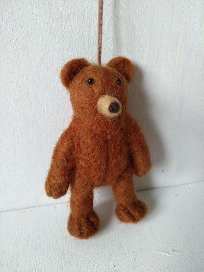 felt plain brown bear