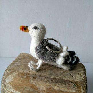 felt seagull keyring
