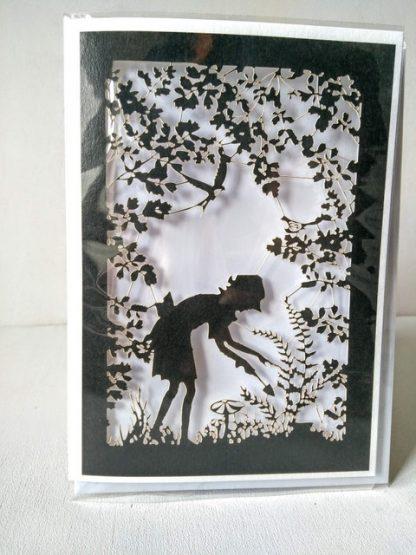 garden silhouette card
