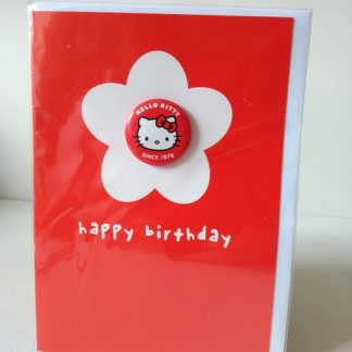 hello kitty birthday badge