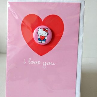 hello kitty love badge