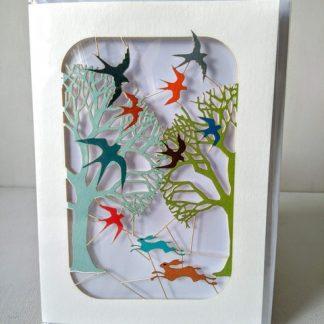 running hares card